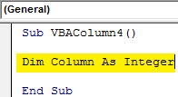 Insert column Example 4