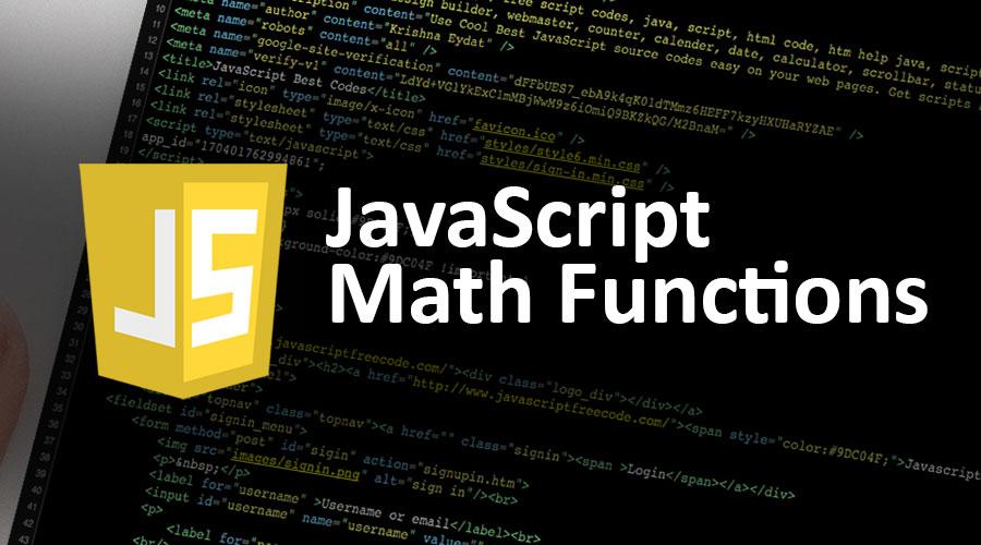 JavaScript Math Functions