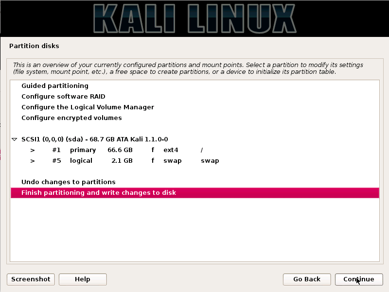 Kali Linux - Review Changes