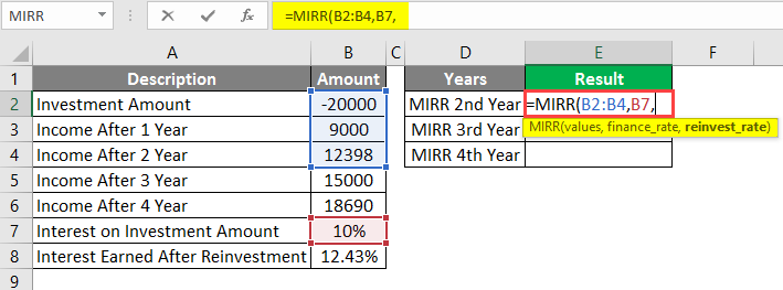 interest rate on investment amount example 1-3