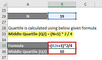 Quartile Formula Example 1-5