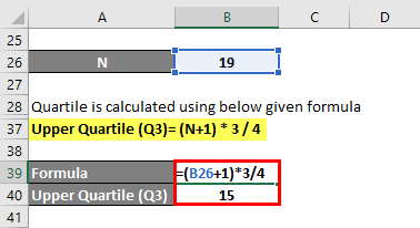 Quartile Formula Example 1-6