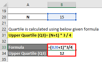 Quartile Formula Example 2-5