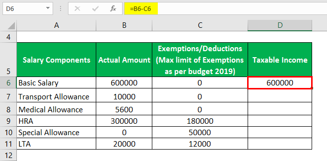 how to calculate the taxable income in salary