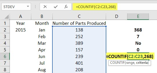 Use Ranges in Excel Example 2.6