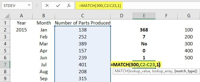 Use Ranges in Excel Example 2.7