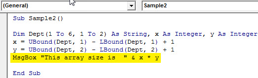 VBA Array Length 3.5