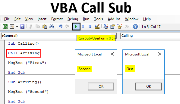 VBA Call Sub | How to Call Sub in Excel VBA? (With Examples)