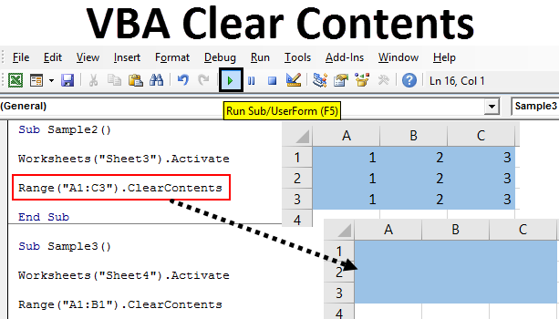 VBA Clear Contents | How to Use Excel VBA Clear Contents?
