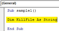 VBA Delete Example 2.2