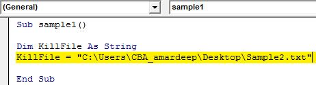 VBA Delete Example 2.3
