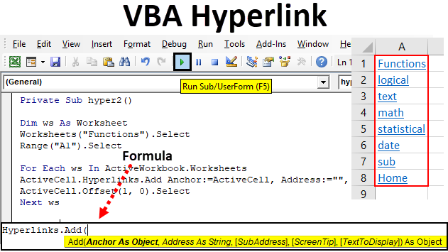 VBA Hyperlink | How to Create Hyperlink in Excel VBA? (Examples)