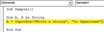 Input String