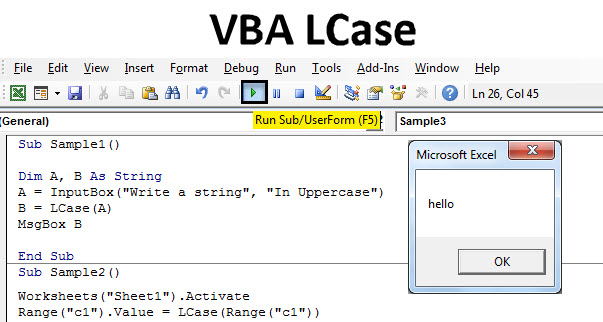 VBA LCase | How to Convert Lower Case in Excel using LCase ...