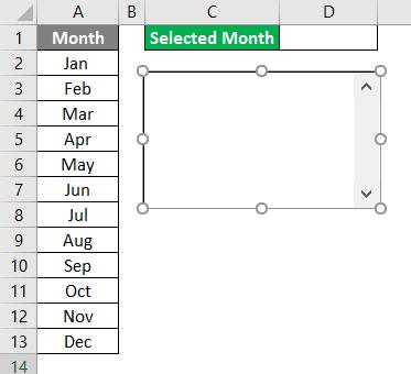 VBA List Box Example 1-3