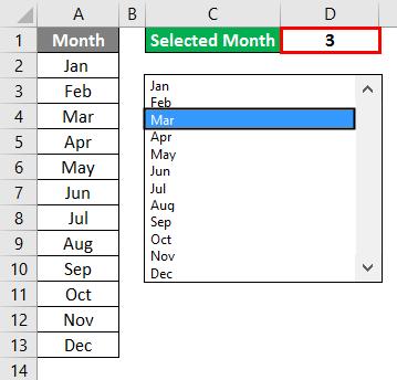 VBA List Box Example 1-7
