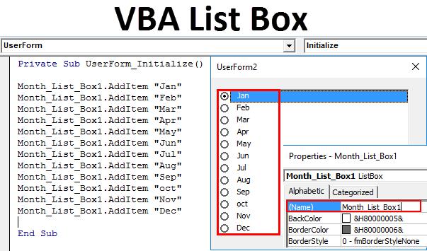 VBA List Box