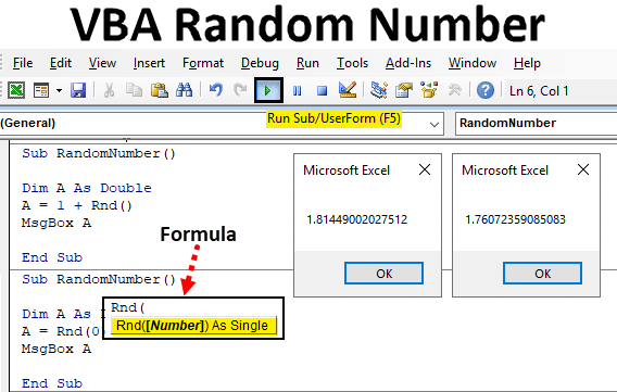 VBA Random number