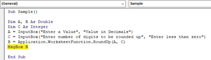 VBA RoundUp Example 1.5
