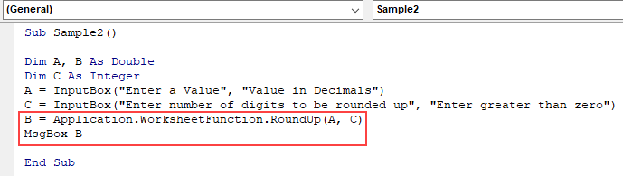 VBA Roundup | How to Use Roundup in VBA (With Examples)