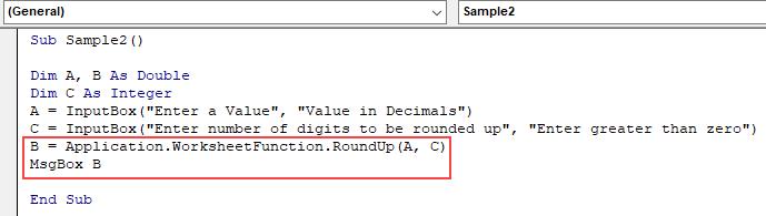 VBA Roundup Example 3.2