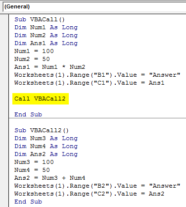 VBA Sub Call Example 2-12