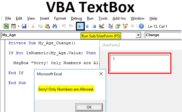VBA TextBox
