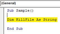 VBA delete Example 1.2