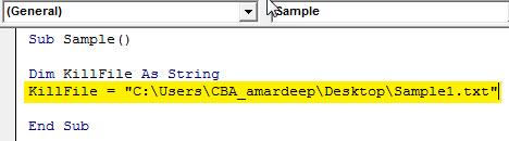 VBA delete Example 1.3