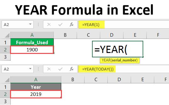 YEAR Formula in Excel