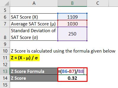 Z Score Formula Example 1-2