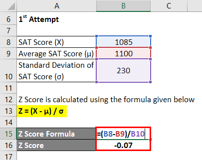 Z Score Formula Example 2-2
