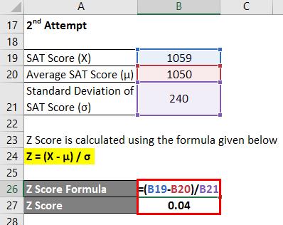 Z Score Formula Example 2-4