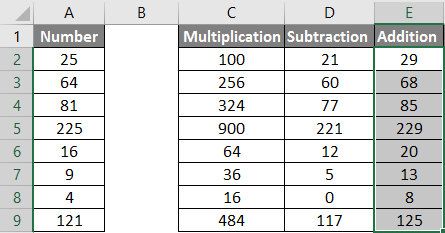 calculations in excel example 1.11