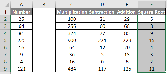calculations in excel example 1.14