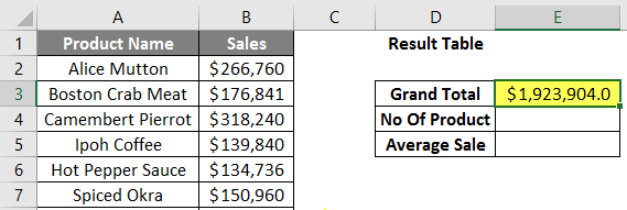 calculations in excel example 2.5