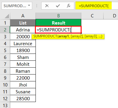 Count Cells with Text in Excel -2