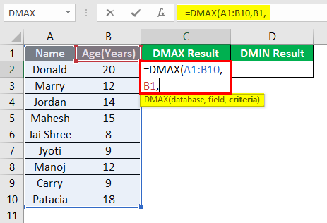 DMAX and DMIN 1-5