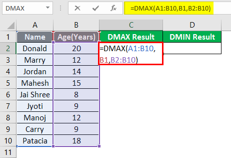 DMAX and DMIN 1-6