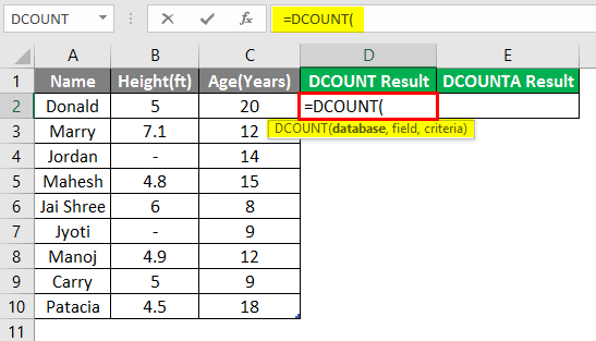 database in excel 3-2
