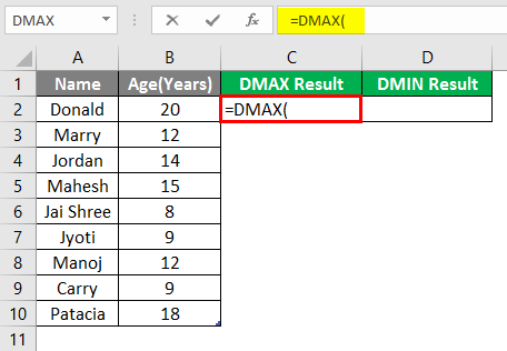 DMAX and DMIN 1-3