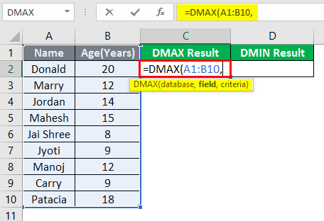 DMAX and DMIN 1-4
