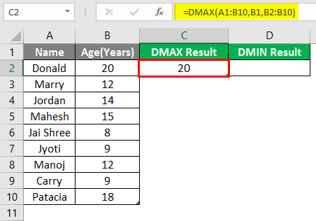 DMAX and DMIN 1-7