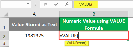 excel Value - Example 1-2