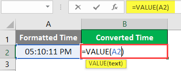 excel Value - Example 3-2