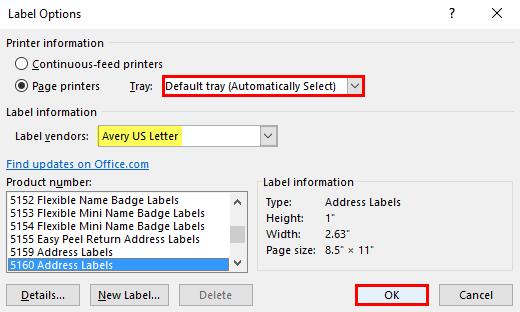 how to print labels from excel step 3.2