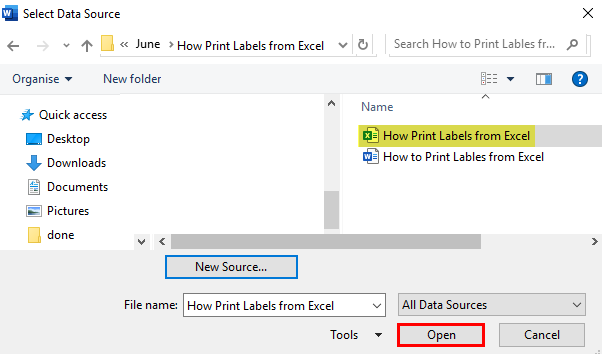 how to print labels from excel step 4.2