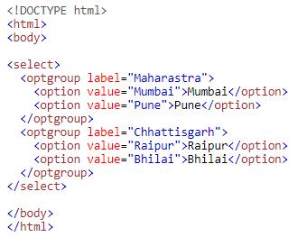 Input Type Optgroup