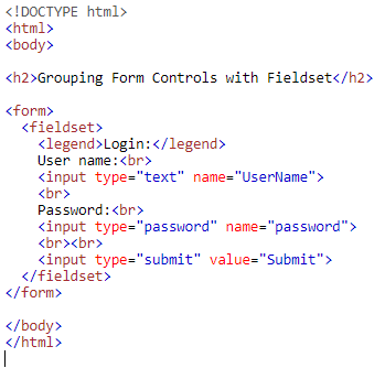 HTML Form Controls