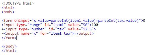 output tag